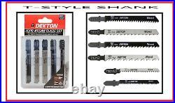 10PC T-Type Jigsaw Blade Set Wood & Metal Bosch Dewalt Hitachi Makita Festool