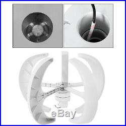 12V 600W 5 Blade Lanterns Wind Turbine Generator Vertical Axis + Controller Set