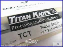 12 Foley Belsaw Carbide Tipped blades / knives RBI 812 Woodmaster 712 set of 3