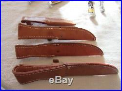 1976 Case 4 Pc. Razor Edge Fixed Blade Set, Stag Handles, Sheathes, Mint Cond