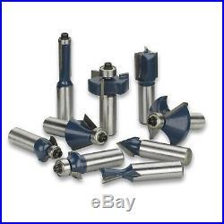 1/4 80pc Shank Tungsten Carbide Router Bit Set 3 Blade Power Tool Carrying Case