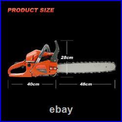 20 58CC Gas Chainsaw 2 Cycle Aluminum Crankcase Chain Saw Wood Cutting Machine