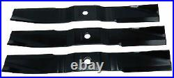 3606888M2 Mower Blades Kit (Set of 3) Massey Ferguson 1505 1740 1747 ZT29/ZT33