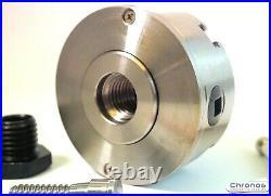 4 Jaw Geared Scroll Wood Lathe Chuck Set 70 mm 1 x 8 TPI Plus a 3/4 x 16 TPI
