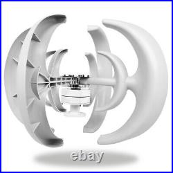 5000W DC 12/24V 4-Blades Lantern Wind Turbine Generator Vertical Axis Wind Power