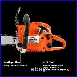 52CC 20 Gasoline Chainsaw Cutting Wood Gas Sawing Aluminum Crankcase Chain Saw