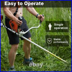 52cc 2-Cycle Gas Straight Shaft String Trimmer Backpack Brush Cutter Weed Eater