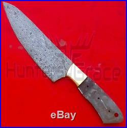 5 Piece Chef Set Blank Blades 100% Damascus Steel Custom Handmade Kitchen Knives