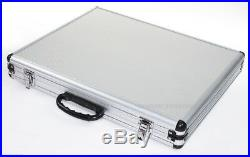 80pc 1/2 Shank Tungsten Carbide Router 3 Blades Bit Set with Aluminum Case