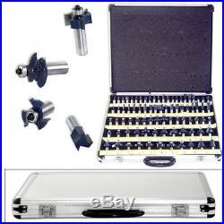 80pc 1/2 Shank Tungsten Carbide Router Bit Set 2 Blades 3 Blade Woodworking