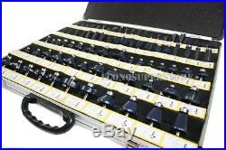 80pc 1/2 Shank Tungsten Carbide Router Bit Set 3 Blade Power Tools Accessories