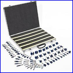 80pc 1/4 Shank Tungsten Carbide Router Bit Set 3 Blade Power Tool Carrying Case