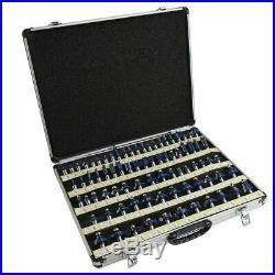 80pc Router Bit Set (2 & 3) Blades Wood Tungsten Carbide Tip 1/2 Shank Tool