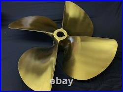 ACME 24 x 22 Right/Left Hand 4 Blade Nibral Propellers. (FOR SET) 2 Inch bore