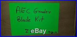 AEC Plastics Grinder Granulator Chopper Blades Shredder Set NEW Z2S5