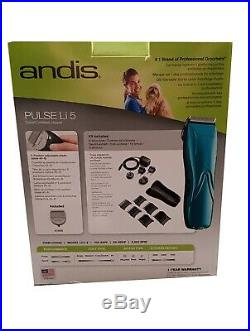 ANDIS CORDLESS Pulse Li5 + Blade + 6AtCombsFULL SET-Pet Dog Horse Cat Clipper