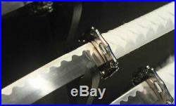 A Set 3 Hand Forged Japanese Samurai Sword Katana Carbon Steel Blade Sharp #1979