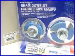 Amana SC450 shaper cutter spndle molder FLOORING SET / NAIL SLOT 3/4 bore