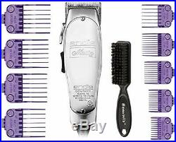 Andis Master Hair Adjustable Blade Clipper 01557 And Dual Magnet 9-Comb Set