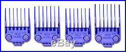 Andis Nano-Silver DOUBLE Magnetic Comb Set (4 Pack) Barber Clipper Guards #01415