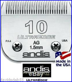 Andis Super Duty PRO 2-Speed CLIPPER SET&ULTRAEDGE 10 BLADEPET DOG CAT GROOMING