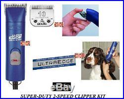 Andis ULTRAEDGE Super Duty AGC PRO 2-Speed CLIPPER SET & 10 BLADEPET GROOMING