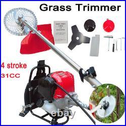 Backpack Grass Brush Cutter 4 Stroke 31CC Strimmer Hedge Trimmer Tree Cutter US