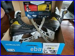 Bauer Supreme 3S Pro Fit 3 Senior Skates Size 9 and set of replacement blades