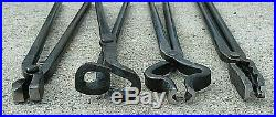 Blacksmith Tongs Tools For Anvil, Knife Making, Blade Tongs, Forge, Hammer, set