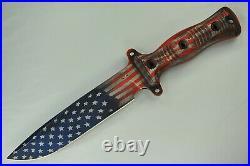 Busse Combat 13 Knife Set, INFI/SR101/Elmax Blade, Red/White/Blue Flag Cerakote