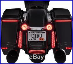 CIRO LED Bag Blades Saddlebag Light Set Harley 2006-2013 Models
