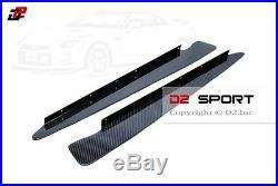 Carbon Fiber Rear Diffuser Blade Fins Set for 08-16 Nissan GT-R R35 CBA DBA