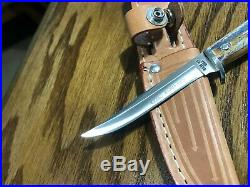 Case XX'65-'80 Razor Edge Stag Fixed Blade Knife Set, Mint
