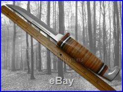 Case xx Twin Finn Fixed Blade Hunter 2 Knife Set Polished Leather & Sheath 00372