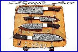 Chef Knife Handmade Damascus Steel Sharp Edge Cutting Blade Kitchen Knife Set