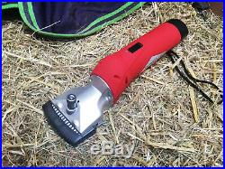 Cordless high power horse clippers 1 year warranty 2 hour clip time 2 sets blade