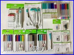 Cricut Accessories Set Blades & Housing, Pens, Paper Craft & Basic Tools Set New