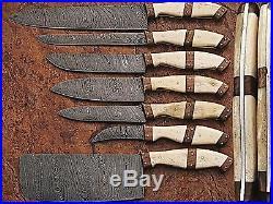DAMASCUS BLADE KITCHEN KNIFE 7Pc's SET DP-1007-B