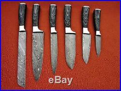Damascus Blade Kitchen knife 06 Pc's set, 1049-6