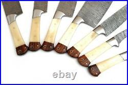 Damascus Blade Professional Kitchen Knife 7pc Set Dp-1064-b