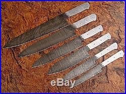 Dd/071-bl Custom Hand Made Damascus Blank Blade 6 Pcs Kitchen/chef Knife Set