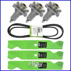 Deck Blade Spindle Belt Kit Combo Set Husqvarna RZ5424 RZ5426 RZ5422 RZ54i Z254