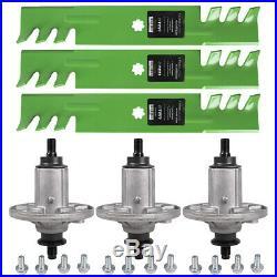 Deck Blade Spindle Kit Combo Set John Deere LA 130 140 145 155C D140 D150 D160