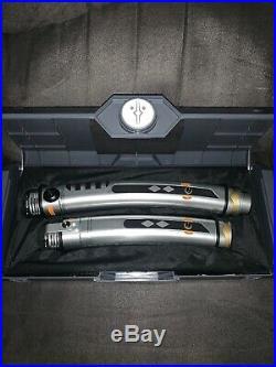 Disney Disneyland Star Wars Galaxys Edge Ahsoka Tano LightSaber With Blades Set