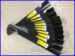 Dixie Chopper blades set of 15 for 60 P/N 30277-60V, exmark 103-2530 USA MADE