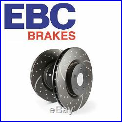 EBC Front Turbo Groove Brake Discs (Pair) Mitsubishi Colt CZT & Ralliart