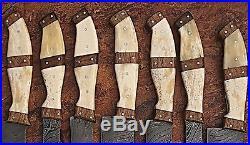 Est Custom Hand Made Damascus Blade 7 Pcs Kitchen/chef Knife Set 107-7