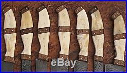Est Custom Made Damascus Blade Kitchen/chef Knife 07 Pc's Set