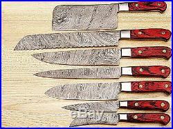 Est Damascus Blade Hand Made Kitchen/chef Knife 07 Pc's Set-1081-7