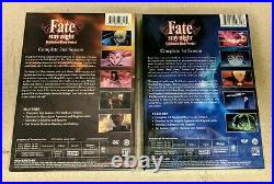 Fate/Stay Night Unlimited Blade Works DVD Sets 1 And 2 new! Aniplex USA